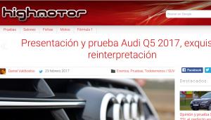 Web de la revista de coches online Highmotor