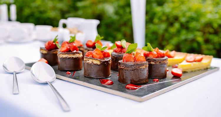 Ejemplo de postres de un catering
