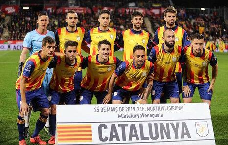 Selección Catalana en el encuentro de 2019 contra Venezuela